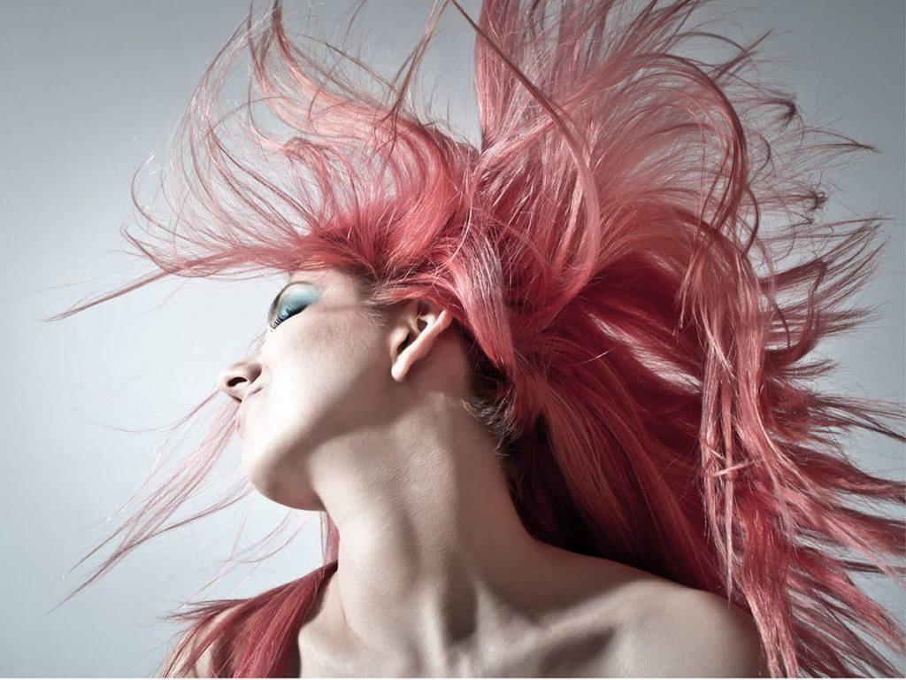 Однотонное окрашивание волос